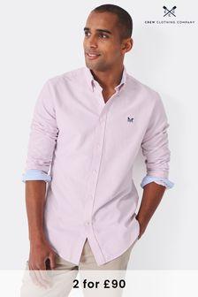 Crew Clothing Pink Crew Slim Oxford Shirt