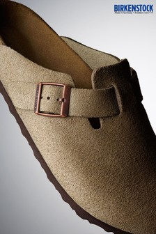 Birkenstock® Boston Suede Taupe Clogs