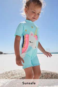 Aqua 3D Unicorn Sunsafe Suit (3mths-7yrs)