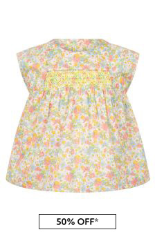 Bonpoint Baby Girls Pink Cotton Blouse