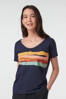 Navy Rainbow Slub T-Shirt