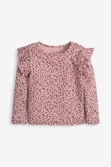Pink Animal Long Sleeve Rib T-Shirt (3mths-8yrs)