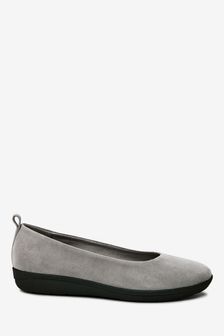 Grey Suede Forever Comfort® With Motion Flex EVA Ballerina Shoes