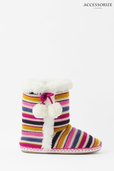 Accessorize Multi Stripe Knitted Boots