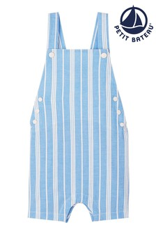 Petit Bateau Blue Stripe Dungarees