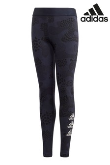 adidas Navy Triple Logo Leggings