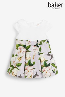 Baker by Ted Baker Baby Girls Dark Floral Occasion Dress
