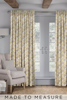 Pablo Ochre Yellow Made To Measure Curtains