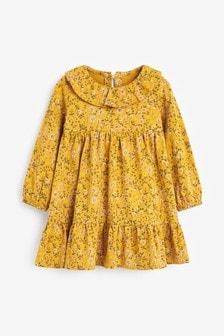 Ochre Ditsy Print Dress (3mths-7yrs)