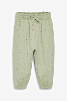 Sage Flower Jersey Trousers (3mths-7yrs)