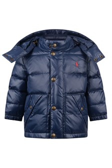 Baby Boys Navy Blue Puffer Jacket