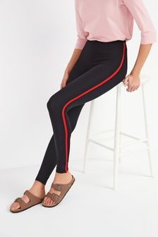 Black/Red Side Stripe