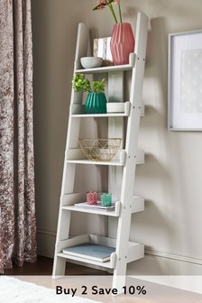 Mode White Ladder Shelf