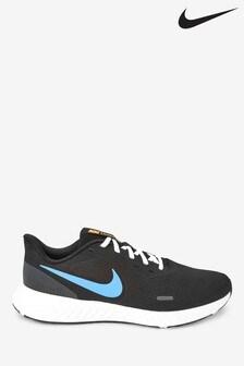 Nike Run Black/Blue Revolution 5 Trainers
