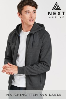 Charcoal Zip Through Hoody Sports Jersey