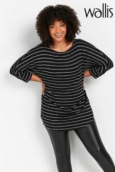Wallis Black Lurex Stripe Tunic