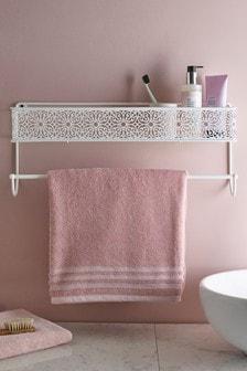 Ornate Pattern Shelf with Rail