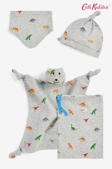 Cath Kidston Baby Mini Dino Hat, Bib And Comforter Accessories Gift Set