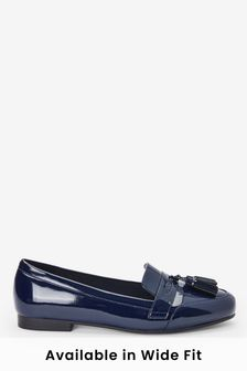 Navy Cleated Tassel Loafers