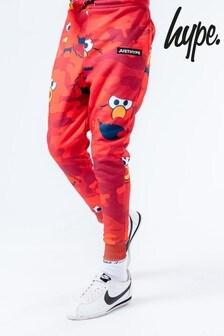 Hype. x Sesame Street Elmo Red Camo Print Kids Joggers