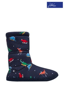 Joules Blue Junior Padabout Slipper Socks