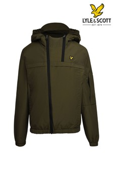 Lyle & Scott Green Double Zip Padded Windcheater Jacket