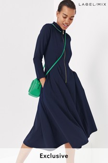 Mix/Cefinn Polo Jersey Dress