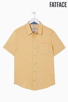 FatFace Yellow Bugle Linen Cotton Shirt