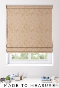 Lara Copper Natural Made To Measure Roman Blind
