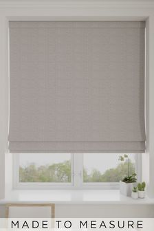 Aria Pewter Natural Made To Measure Roman Blind