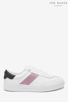 Ted Baker White/Pink Stripe Trainers