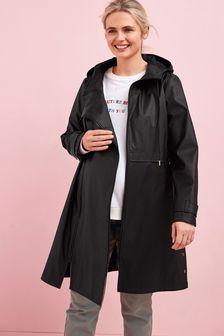 Black Maternity 3-In-1 Rubber Jacket