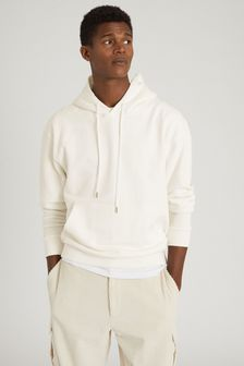 Reiss Cream Field Oversized Hoodie