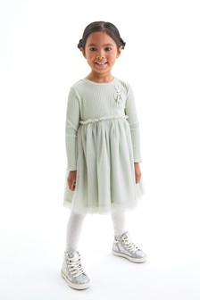 Mint Bunny Party Dress (3mths-7yrs)
