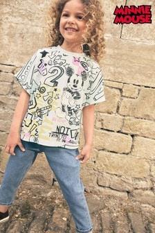 Mint Graffiti Minnie Mouse T-Shirt (3-16yrs)
