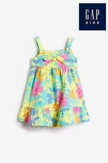Gap Tropical Floral Print Bow Front Dress