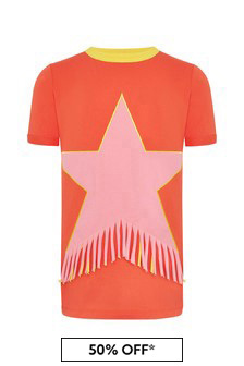 Stella McCartney Kids Girls Red Cotton Dress