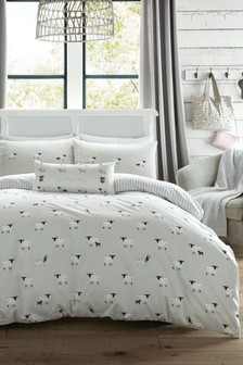 Sophie Allport Sheep Cotton Duvet Cover And Pillowcase Set