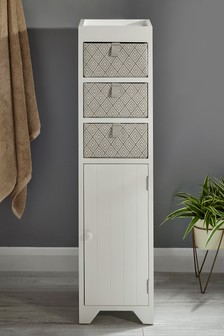 White Wooden Storage Unit