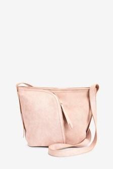 Pale Pink Bucket Across Body Bag