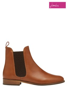 Joules Brown Westbourne Premium Leather Chelsea Boots