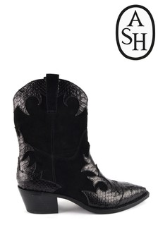 Ash Desperado Black Western Boots