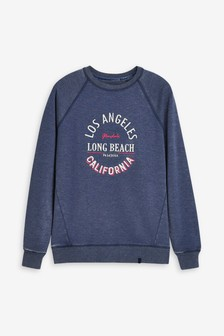Navy Los Angeles Graphic Sweatshirt