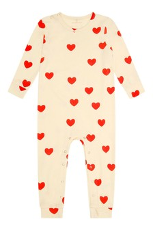 Baby Girls Ivory Hearts All-In-One