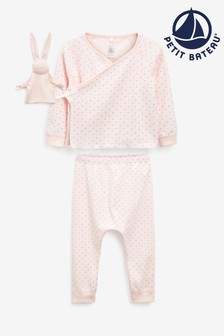 Petit Bateau Pink Oufit And Toy Set