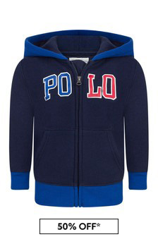 Baby Boys Navy Cotton Hoody