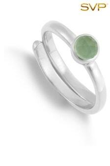 Mix/SVP Sterling Silver Atomic Ring