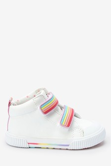 White Rainbow High Top Boots (Younger)