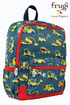 Frugi Recycled Backpack In Dig A Rainbow Print With Detail