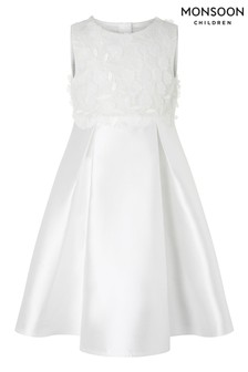 Monsoon Anika Ivory Floral Bodice Dress
